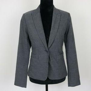 Larry Levine Gray Herringbone Blazer/Jacket 6-S